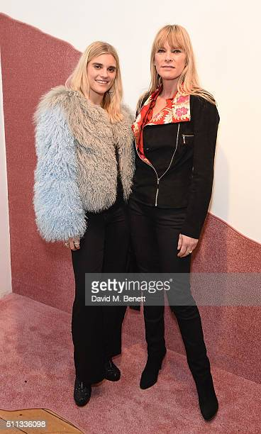 TigerLily Taylor and Deborah Leng attend the Charlotte Simone presentation during London Fashion Week Autumn/Winter 2016/17 at Scream Gallery on...