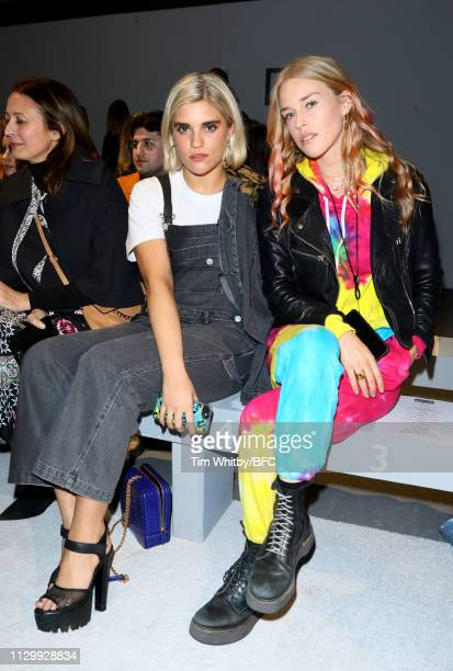 Tigerlily Taylor and Mary Charteris attend the Ashley Williams show during London Fashion Week February 2019 on February 15 2019 in London England