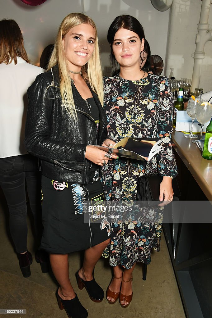 Tigerlily Taylor (L) and Pixie Geldof attend as Iconic British fashion label RED OR DEAD and London based NEWGEN design talent Ashley Williams celebrate the launch of the second phase of their exclusive Ashley Williams x RED OR DEAD footwear collaboration at Lights Of Soho on September 2, 2015 in London, England.