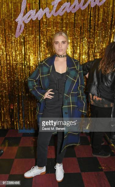 Tigerlily Taylor attends the ALEXACHUNG Fantastic collection party on January 30 2018 in London England