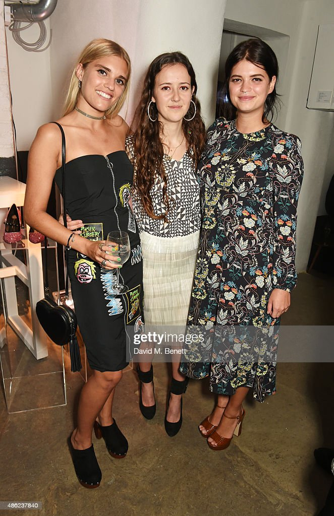 Tigerlily Taylor, designer Ashley Williams and Pixie Geldof attend as Iconic British fashion label RED OR DEAD and London based NEWGEN design talent Ashley Williams celebrate the launch of the second phase of their exclusive Ashley Williams x RED OR DEAD footwear collaboration at Lights Of Soho on September 2, 2015 in London, England.