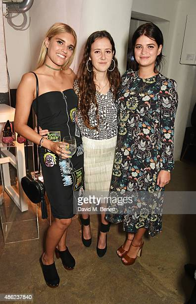 Tigerlily Taylor designer Ashley Williams and Pixie Geldof attend as Iconic British fashion label RED OR DEAD and London based NEWGEN design talent...
