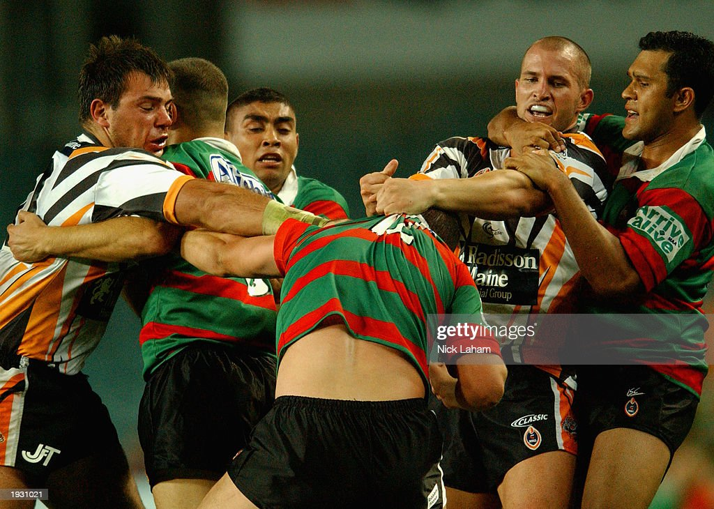 Tigers And Rabbitohs Players Have A Punch Up During The Round Five News Photo Getty Images
