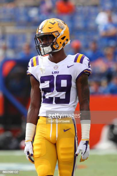 Tigers cornerback Andraez Williams during the college football game between the LSU Tigers and Florida Gators on October 07 at Ben Hill Griffin...