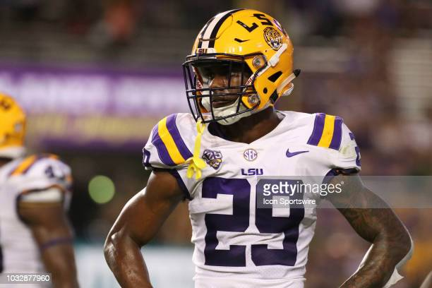 Tigers cornerback Greedy Williams during the LSU Tigers 310 win over the Southeastern Louisiana Lions on September 08 at Tiger Stadium in Baton Rouge...