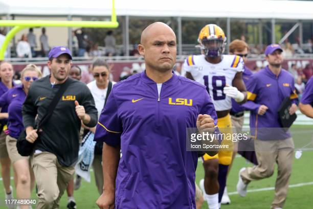 Tigers defensive coordinator Dave Aranda during the game between the LSU Tigers and the Mississippi State Bulldogs on October 19 2019 at Davis Wade...