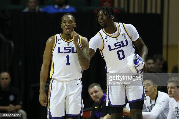 Tigers guard Ja'vonte Smart and LSU Tigers forward Naz Reid during the 2018 AdvoCare Invitational mens college basketball game between the Charleston...