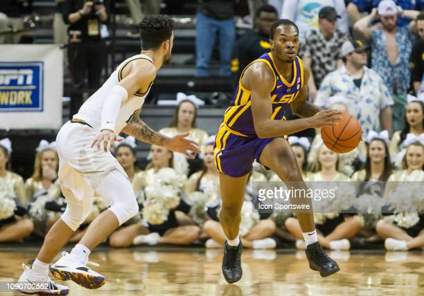 Tigers guard Ja'vonte Smart drives the ball up court during the SEC conference game between the Missouri Tigers and the LSU Tigers on Saturday...