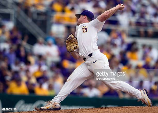 Tigers left handed pitcher Jared Poche' throws a pitch during a NCAA Baton Rouge Regional game between the LSU Tigers and Texas Southern Tigers on...
