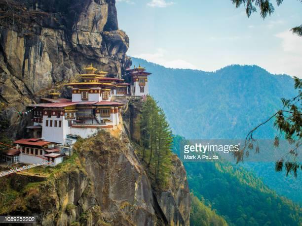tiger's nest bhutan - paro stock photos and pictures