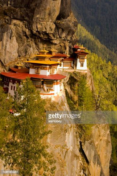 Tigers Nest Monastery on Cliff in Bhutan Asia