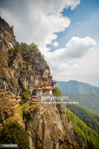 tiger's nest monastery - paro stock photos and pictures