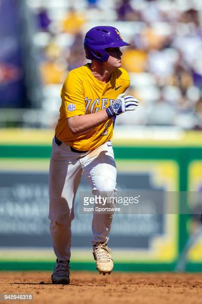 Tigers outfielder Daniel Cabrera during a baseball game between the Mississippi State Bulldogs and the LSU Tigers on March 31, 2018 at Alex Box...