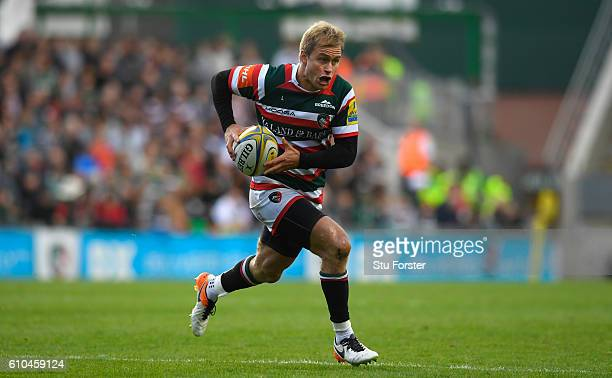 Tigers player Matthew Tait in action during the Aviva Premiership match between Leicester Tigers and Bath Rugby at Welford Road on September 25 2016...