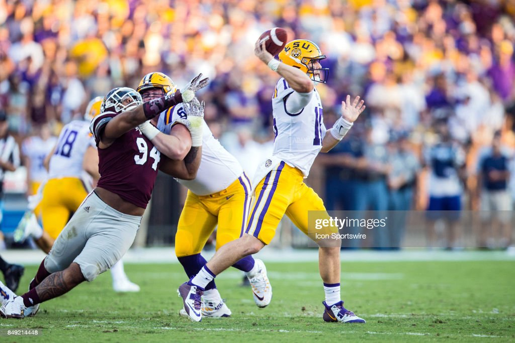 COLLEGE FOOTBALL: SEP 16 LSU at Mississippi State : News Photo