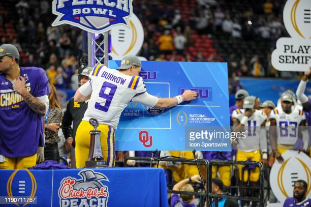 Tigers quarterback Joe Burrow puts the LSU Tigers in the National Championship slot after the College Football Playoffs Semifinal ChickfilA Peach...