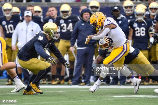 Tigers running back Derrius Guice during the first half of the Citrus Bowl game between the Notre Dame Fighting Irish and the LSU Tigers on January...