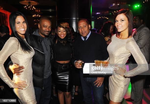 Tigger Shae Johnson and Frank Ski attend the Official Launch Of Luxury Cognac D'usse at Vanquish Lounge on March 14 2013 in Atlanta Georgia