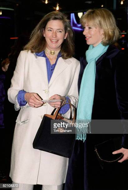 Tiggy Leggebourke With Her Sister Zara At The Premiere Of The Film 'iron Giant' To Raise Funds For The Nspcc National Society For Prevention Of...