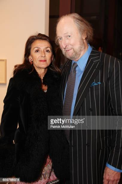 Tiggy Maconochie and Ed Victor attend Lehmann Maupin Gallery TRACEY EMIN Opening and Party at Wallse at Lehmann Maupin Gallery on November 5 2009 in...