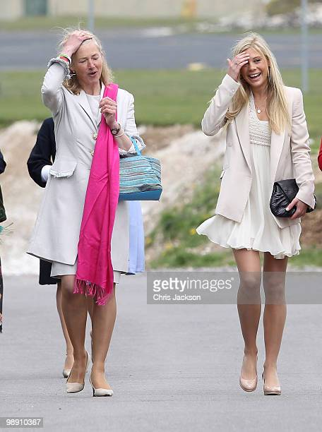 Tiggy Pettifer and Chelsy Davy attends Prince Harry's Pilot Course Graduation at the Army Aviation Centre on May 7 2010 in Andover England The Prince...