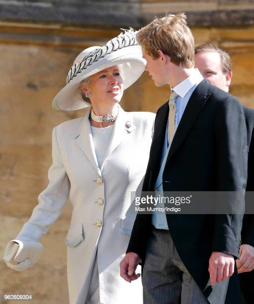 Tiggy Pettifer and Tom Pettifer attend the wedding of Prince Harry to Ms Meghan Markle at St George's Chapel Windsor Castle on May 19 2018 in Windsor...