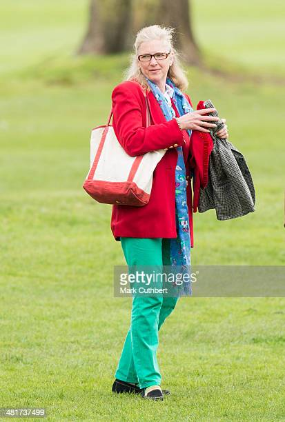 Tiggy Pettifer the former nanny of Prince William watches the Windsor Greys Statue unveiling on March 31 2014 in Windsor England