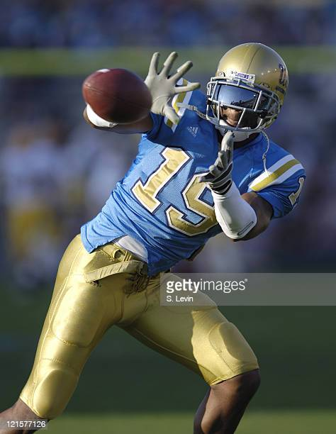 UCLA tight end Marcedes Lewis during the Arizona State vs UCLA game at the Rose Bowl in Pasadena CA on Nov 12 2005 UCLA won their last home game of...
