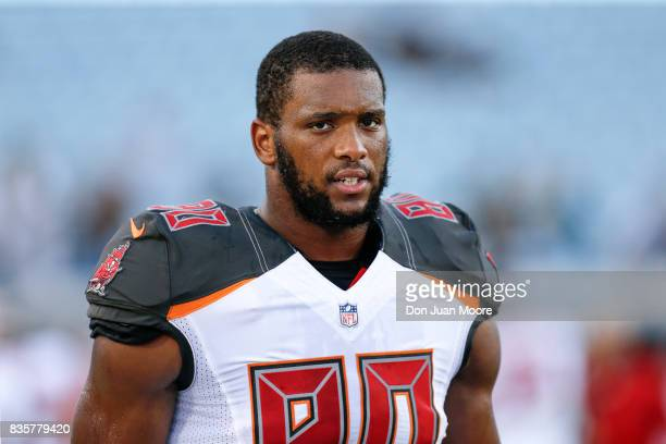 Tight End OJ Howard of the Tampa Bay Buccaneers before the start of the game against the Jacksonville Jaguars at EverBank Field on August 17 2017 in...