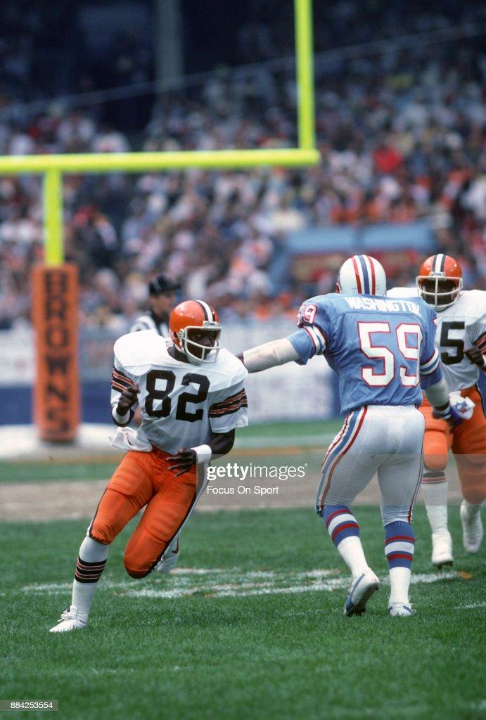 Houton Oilers v Cleveland Browns : Nachrichtenfoto