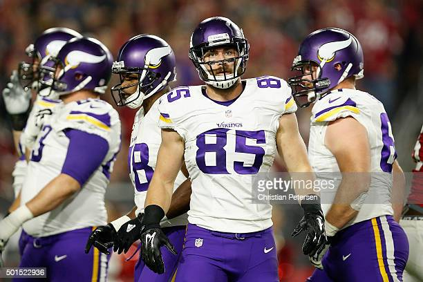 Tight end Rhett Ellison of the Minnesota Vikings during the NFL game against the Arizona Cardinals at the University of Phoenix Stadium on December...