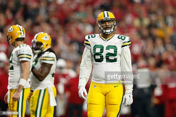 Tight end Richard Rodgers of the Green Bay Packers during the NFL game against the Arizona Cardinals at the University of Phoenix Stadium on December...