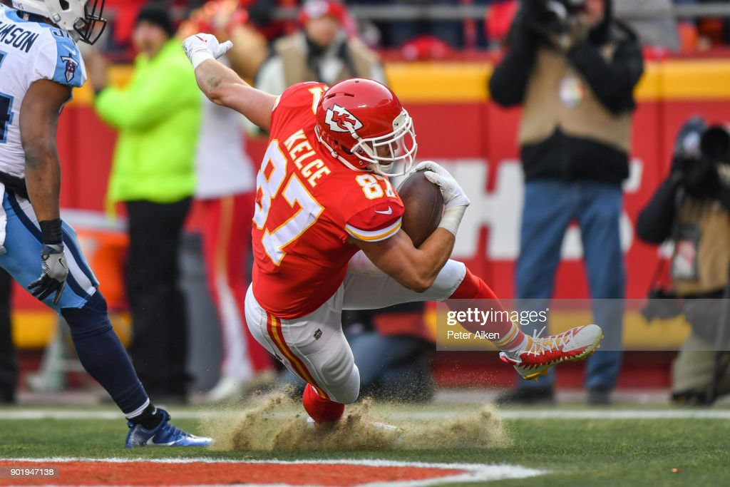 Wild Card Round - Tennessee Titans v Kansas City Chiefs : News Photo