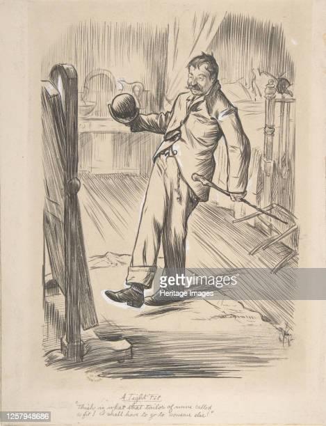 A Tight Fit 1872 Artist Charles Samuel Keene