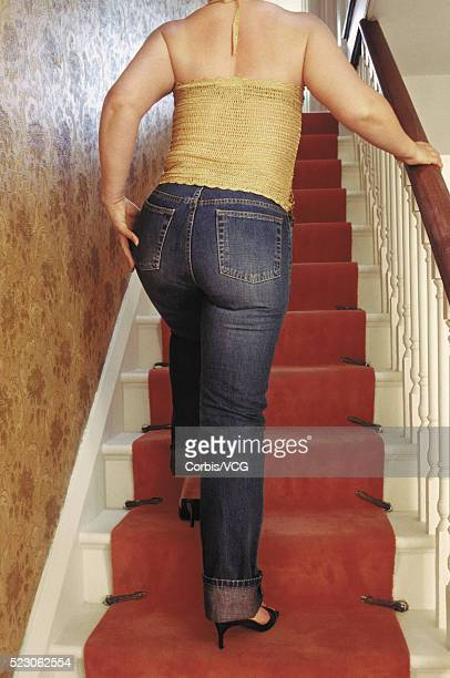 tight jeans - fat women in high heels stock pictures, royalty-free photos & images