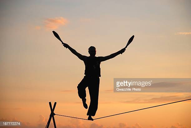 Tightrope Walker at sunset
