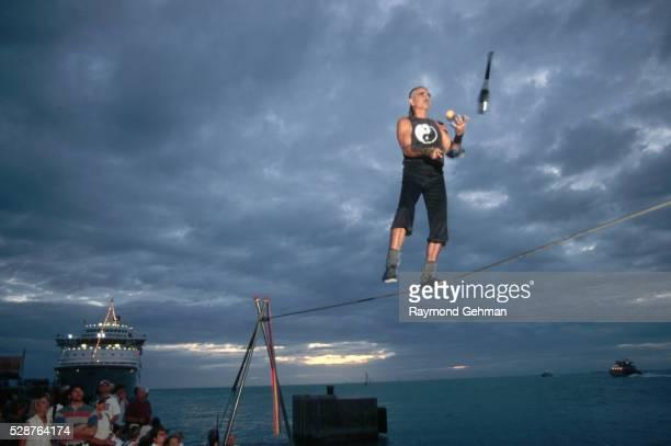 Tightrope Walker Juggling