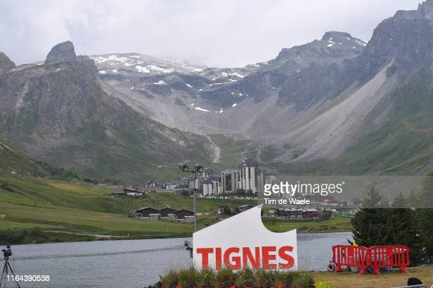 Tignes Village / Stage neutralized - canceled due to snow and hail in the final 20km to finish-line / Snow / Mountains / Landscape / during the 106th...