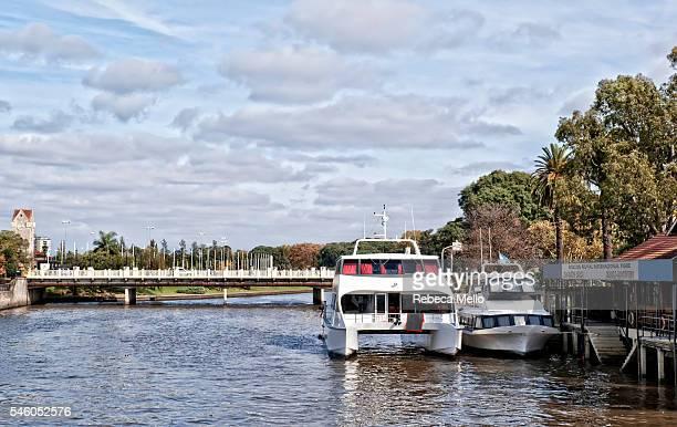tigre river - catamaran stock photos and pictures