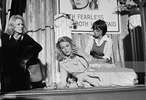 """Tigress"""" Episode 11 -- Aired 1/11/78 -- Pictured: Angie Dickinson as Sgt. Suzanne """"Pepper"""" Anderson, Laraine Stephens as Amelia Boyer, unknown --..."""