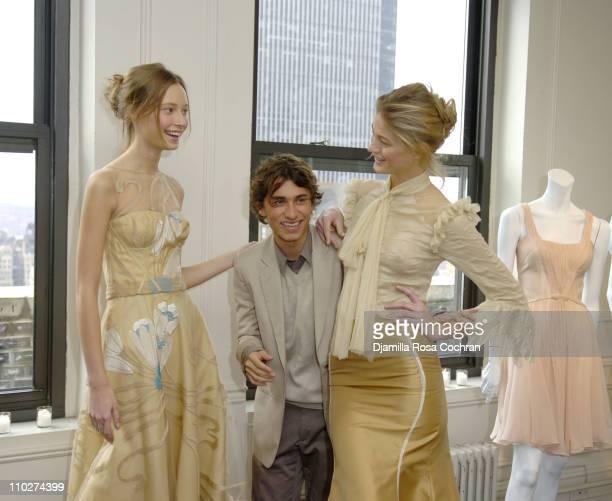 Tiiu Esteban Cortazar and Michelle during Olympus Fashion Week Fall 2006 Esteban Cortazar Presentation at Michael Atchison Showroom in New York City...