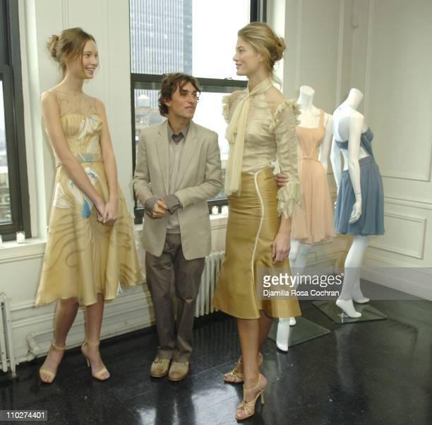 Tiiu, Esteban Cortazar and Michelle during Olympus Fashion Week Fall 2006 - Esteban Cortazar - Presentation at Michael Atchison Showroom in New York...