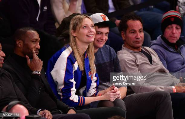 Tiiu Kuik attends the Atlanta Hawks Vs New York Knicks game at Madison Square Garden on December 10 2017 in New York City