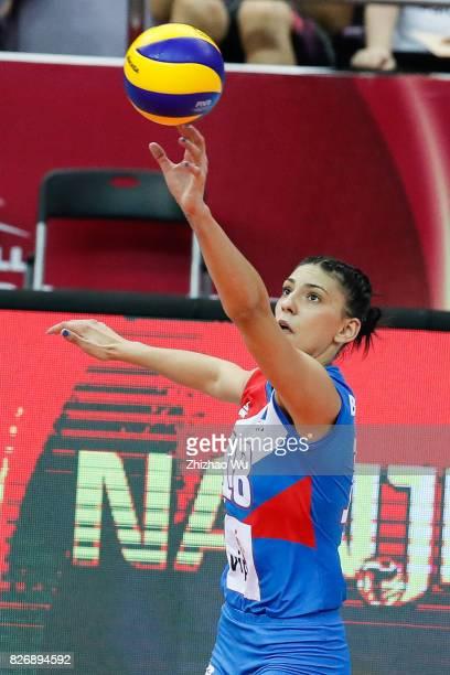Tijana Boskovic of Serbia during 2017 Nanjing FIVB World Grand Prix Finals between China and Serbia on August 6 2017 in Nanjing China