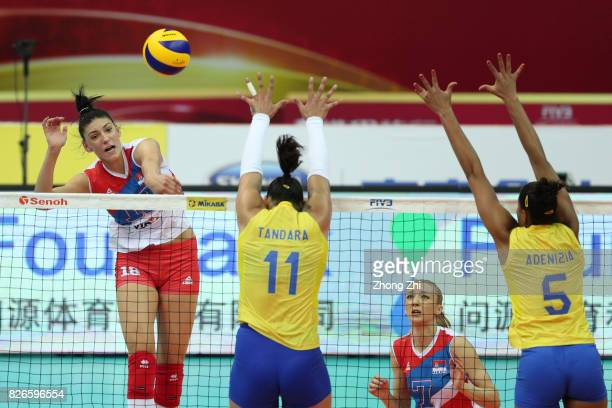 Tijana Boskovic of Serbia in action during the semi final match between Serbia and Italy during 2017 Nanjing FIVB World Grand Prix Finals on August 4...
