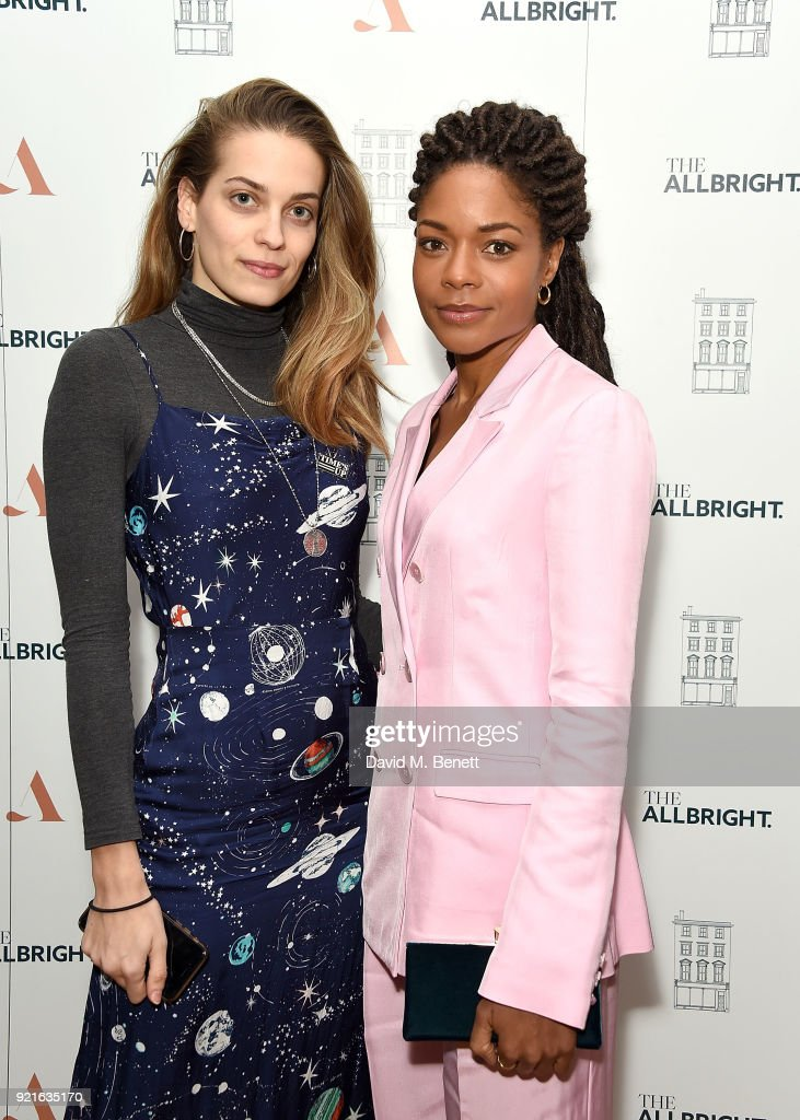 Tijana Tamburic and Naomie Harris attends the first female-only members' club in the UK for working women - The AllBright - opens its doors to celebrities, politicians and actor's on February 20, 2018 in London, England.