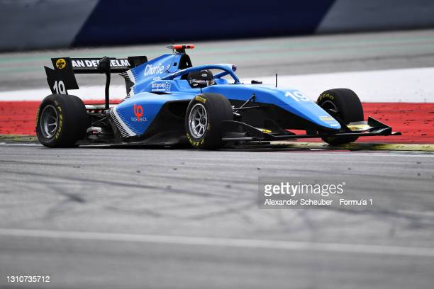 Tijmen van der Helm of Netherlands and MP Motorsport drives during Day Two of Formula 3 Testing at Red Bull Ring on April 04, 2021 in Spielberg,...