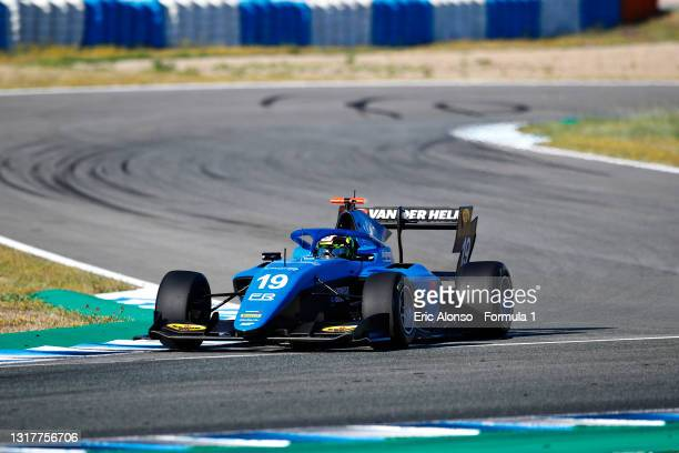 Tijmen van der Helm of Netherlands and MP Motorsport drives during day two of Formula 3 Testing at Circuito de Jerez on May 13, 2021 in Jerez de la...