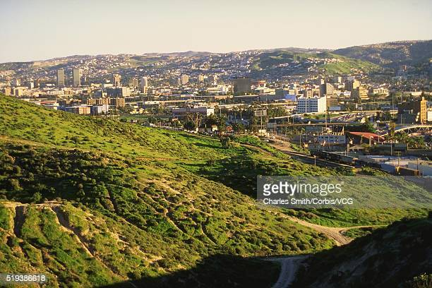 tijuana and the surrounding hills - tijuana stock pictures, royalty-free photos & images