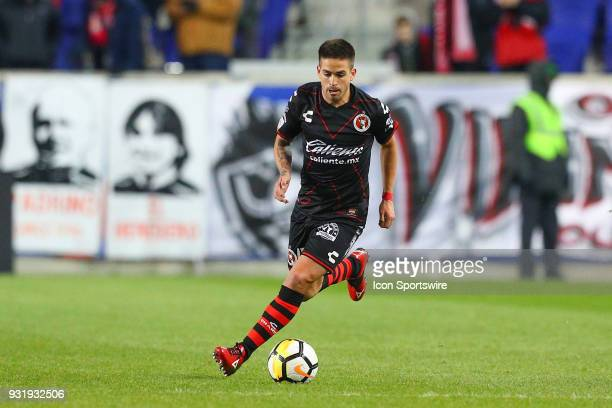Tijuana defender Damian Perez during the second half of the CONCACAF Champions League Quarterfinal match between the New York Red Bulls and Club...